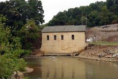 一个老能源厂在弗吉尼亚 图库摄影