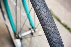 一个老自行车细节 免版税图库摄影