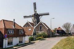 一个老荷兰村庄的门面 免版税库存照片