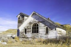一个老被放弃的国家教会在多萝西,亚伯大,加拿大 免版税库存照片