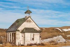 一个老被放弃的国家教会在多萝西,亚伯大,加拿大 图库摄影