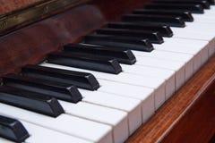 一个老钢琴特写镜头的钥匙 免版税图库摄影