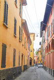 一个老镇的中心在波隆纳 库存图片