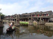 一个老镇的图片在浙江,中国 免版税图库摄影
