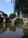 一个老镇的图片在浙江,中国 免版税库存图片