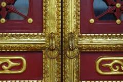 一个老门的细节 免版税库存照片