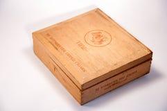 一个老雪茄盒 免版税库存照片
