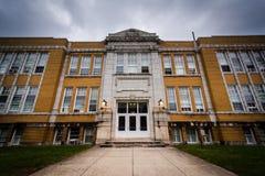 一个老高中大厦在汉诺威,宾夕法尼亚 库存图片