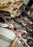 一个老滑轮 免版税库存照片