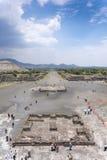 一个考古学站点的大角度看法, 免版税库存图片