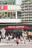 一个肋前缘咖啡出口的标志在上海,中国 库存照片
