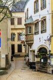 一个胡同在卢森堡的街市 库存照片