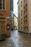 一个胡同在卢森堡的街市 图库摄影