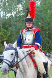 一个胸甲骑兵的画象从第5个胸甲骑兵军团的 库存照片