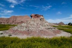 一个腐蚀的岩石土墩 免版税库存图片