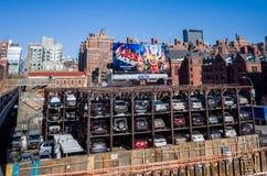 一个自动化的汽车停车处系统纽约 免版税库存照片