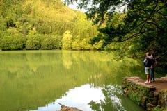 一个自然地方- Lagoa做Congro 免版税库存图片