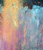 一个色的铁锈纹理摘要 免版税库存图片