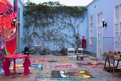 一个艺术家演播室在利马 免版税库存照片