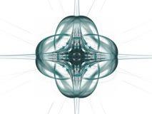 以一个花卉样式的形式灰色绿的抽象分数维 免版税库存图片