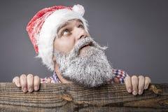 一个英俊的人的特写镜头有长胡子和髭佩带的 库存照片