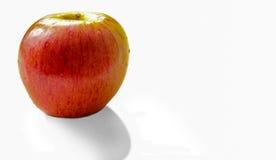 一个苹果有白色背景 库存照片