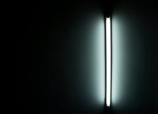 一个荧光灯管的细节 库存照片
