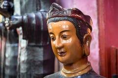 一个菩萨雕象的头在玉塔,西贡,越南 库存图片