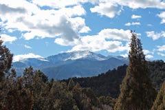 一个落矶山脉峰顶 库存照片