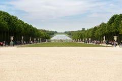 一个著名凡尔赛宫大别墅的de凡尔赛,法国美丽的庭院 免版税库存图片