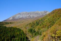 一个著名峰顶在鸟取县 库存图片