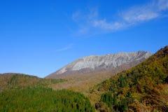 一个著名峰顶在鸟取县 图库摄影