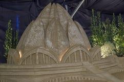 一个著名教会的Sandsculpture 免版税库存图片