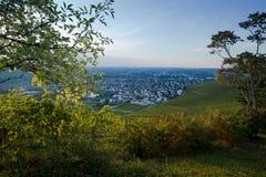 从一个葡萄园的看法村庄的博伊特尔斯巴赫 库存图片