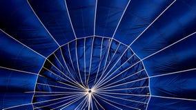 一个蓝色热空气气球的细节 免版税库存图片