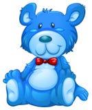 一个蓝色玩具熊 免版税库存图片