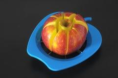 一个蓝色Aplle切割工具 图库摄影