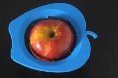 一个蓝色Aplle切割工具 免版税库存图片