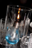 一个蜡烛做ââof电灯泡 免版税库存照片