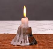 一个蜡烛的烛台 库存照片