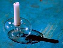 一个蜡烛 免版税库存图片