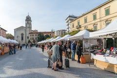 一个街市在比萨,托斯卡纳,意大利的中心 库存照片
