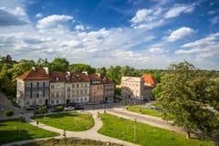 一个街道华沙老镇(凝视Miasto)是最旧的历史的区华沙(13世纪) 免版税图库摄影