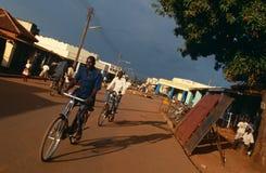 一个街道场面在乌干达。 免版税图库摄影