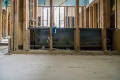 一个被充斥的休斯敦家的里面 库存照片