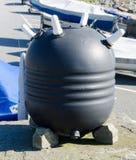 一个被卸载的垫铁矿 图库摄影