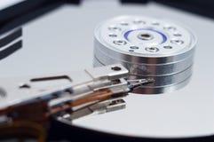 一个被打开的计算机硬盘 免版税图库摄影