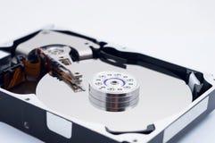 一个被打开的计算机硬盘 库存照片