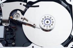 一个被打开的计算机硬盘 库存图片
