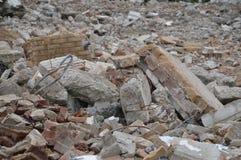 一个被拆毁的大厦的结果 库存图片